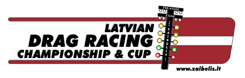 2014 Latvia Drag Racing championship logo 500