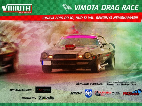 Vimota Drag Race 2016 plakatas 550