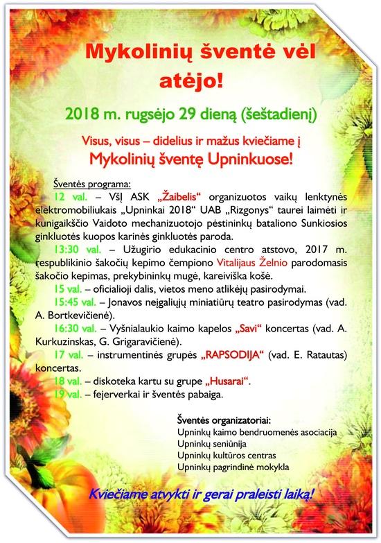 Mykoliniu skelbimas 2018 550